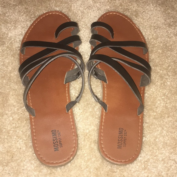 f31712501888 Mossimo Lina Slide Sandals Strappy Black 8.5. M 5ab7a5c546aa7c982eecd02d